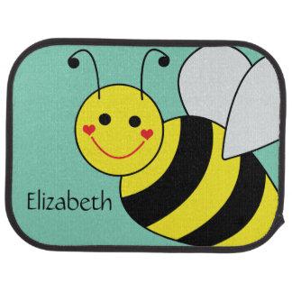 Cute Bumble Bee Personalized Car Floor Mat