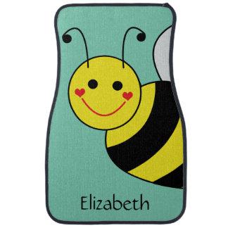 Cute Bumble Bee Personalized Car Mat