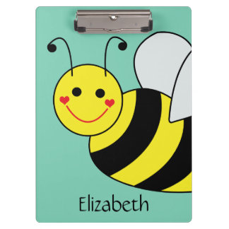 Cute Bumble Bee Personalized Clipboard