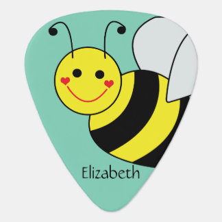 Cute Bumble Bee Personalized Guitar Pick