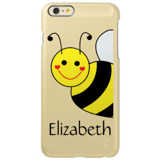 Cute Bumble Bee Personalized Incipio Feather Shine iPhone 6 Plus Case