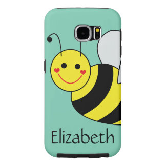 Cute Bumble Bee Personalized Samsung Galaxy S6 Cases