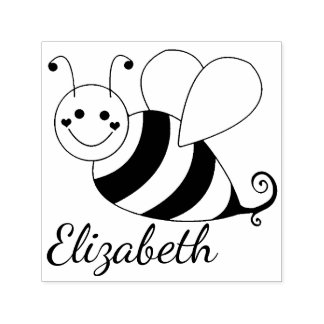 Cute Bumble Bee Personalized Self-inking Stamp