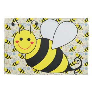 Cute Bumble Bee Pillow Case