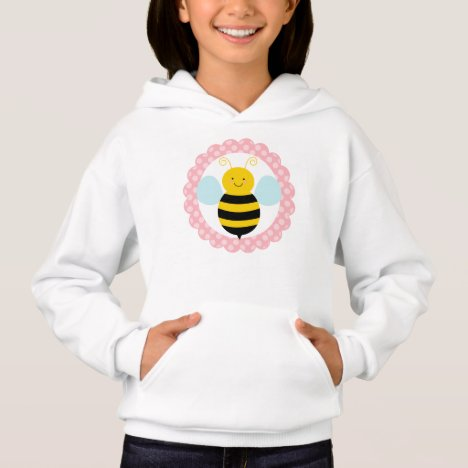 Cute Bumble Bee - Pink Yellow Hoodie