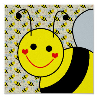 Cute Bumble Bee Poster