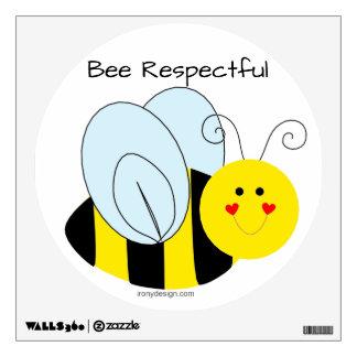 Cute Bumble Bee Respectful Wall Sticker