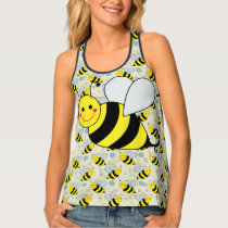 Cute Bumble Bee Tank Top