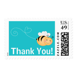 Cute Bumble Bee  Thank You Baby Shower  Postage