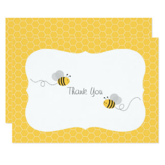 Cute Bumble Bee Thank You Card
