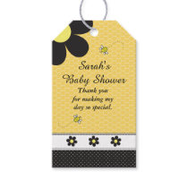 Cute Bumble Bee Theme Baby Shower Gift Tags