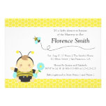 Cute Bumble Bee Theme, Boy Baby Shower Personalized Announcement