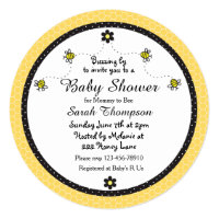 Bumble bee baby shower invitations announcements zazzle cute bumble bee themed baby shower invitation filmwisefo