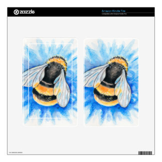Cute Bumble Bee Watercolor Art Kindle Fire Decal