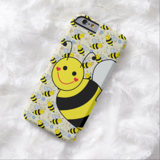 Cute Bumble Bee with Pattern Barely There iPhone 6 Case