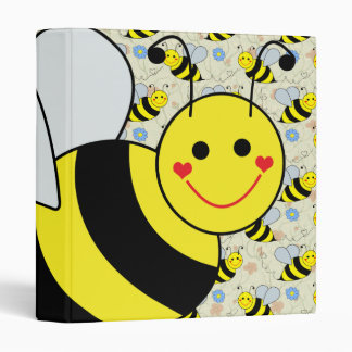 Cute Bumble Bee with Pattern Binder