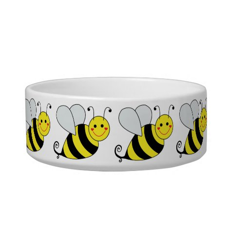Cute Bumble Bee with Pattern Bowl