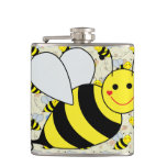 Cute Bumble Bee with Pattern Flask