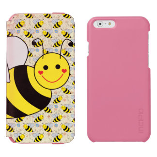Cute Bumble Bee with Pattern iPhone 6/6s Wallet Case
