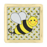 Cute Bumble Bee with Pattern Lapel Pin