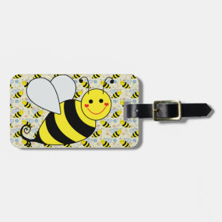 Cute Bumble Bee with Pattern Tag For Bags