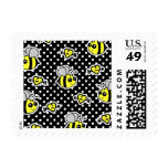 Cute Bumble Bee Yellow and Black Polka Dot Postage Stamp