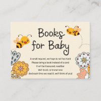 Cute Bumble Bees Baby Shower Books for Baby Enclosure Card