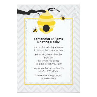 Cute Bumble Bees Baby Shower Card