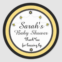 Cute Bumble Bees Baby Shower Thank You Stickers