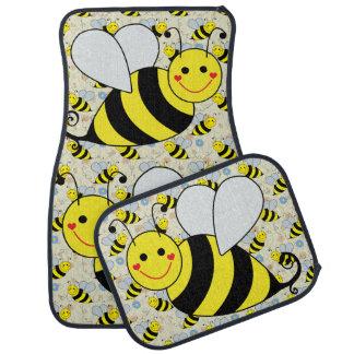 Cute Bumble Bees Car Floor Mat