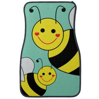 Cute Bumble Bees Car Mat