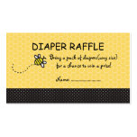 Cute Bumble Bees Diaper Raffle Tickets Double-Sided Standard Business Cards (Pack Of 100)