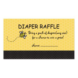 Cute Bumble Bees Diaper Raffle Tickets Business Card