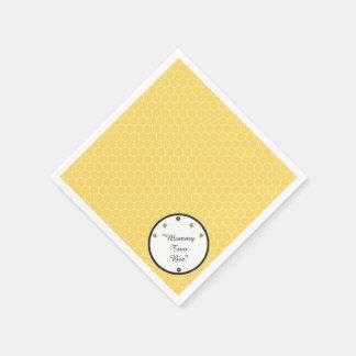 Cute Bumble Bees Honeycomb Pattern Napkins Paper Napkin