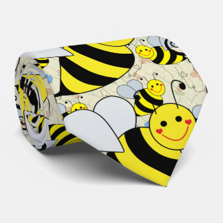 Cute Bumble Bees Neck Tie