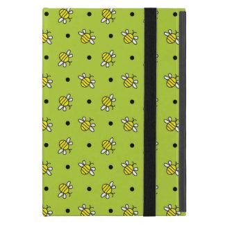 Cute Bumble Bees on Lime Green iPad Mini Powiscase iPad Mini Covers