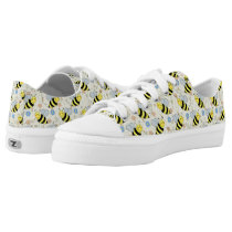 Cute Bumble Bees Pattern Low-Top Sneakers