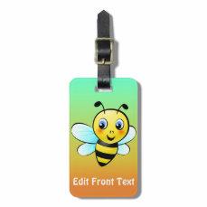 Cute Bumblebee Cartoon Bag Tag