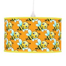 Cute Bumblebee Cartoon Pendant Lamp