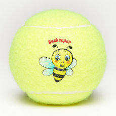 Cute Bumblebee Cartoon Tennis Balls