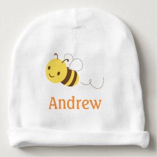 Cute Bumblebee Custom Personalized Baby's Name Baby Beanie