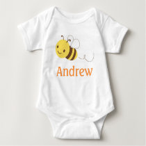 Cute Bumblebee Custom Personalized Baby's Name Baby Bodysuit