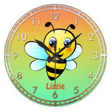 Cute Bumblebee Large Clock
