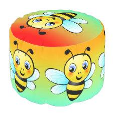 Cute Bumblebee Pouf