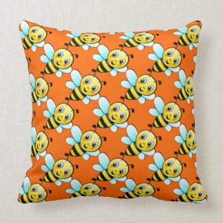 Cute Bumblebee Throw Pillow