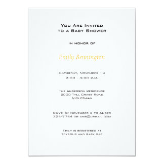 Cute Bumblebees Baby Shower Invitation