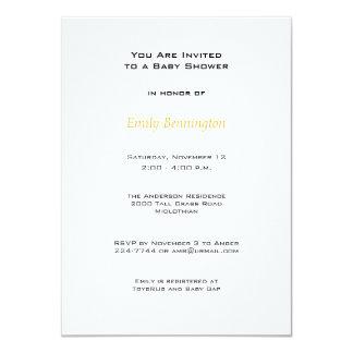 "Cute Bumblebees Baby Shower Invitation 4.5"" X 6.25"" Invitation Card"