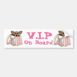 Cute Bumper Sticker - V.I.P On Board Purse Pet