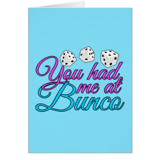 Cute Bunco Game Card