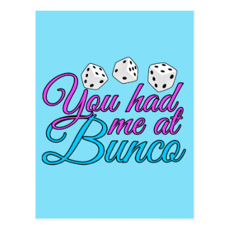 Cute Bunco Game Postcard